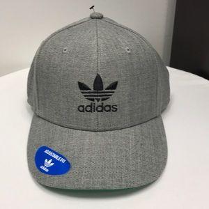 Men's Grey Adidas Hat